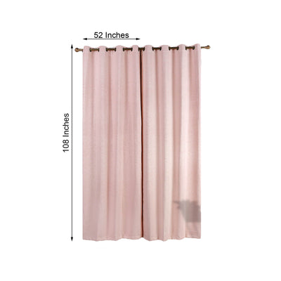 Blush Soundproof Curtains | Pack of 2 Embossed Curtains | 52 x 108 Inch Blackout Curtains | Soundproof Velvet Curtains