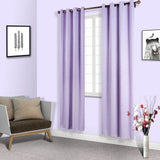 Lavender Soundproof Curtains | Pack of 2 Embossed Curtains | 52 x 108 Inch Blackout Curtains | Eyelet Blackout Curtains