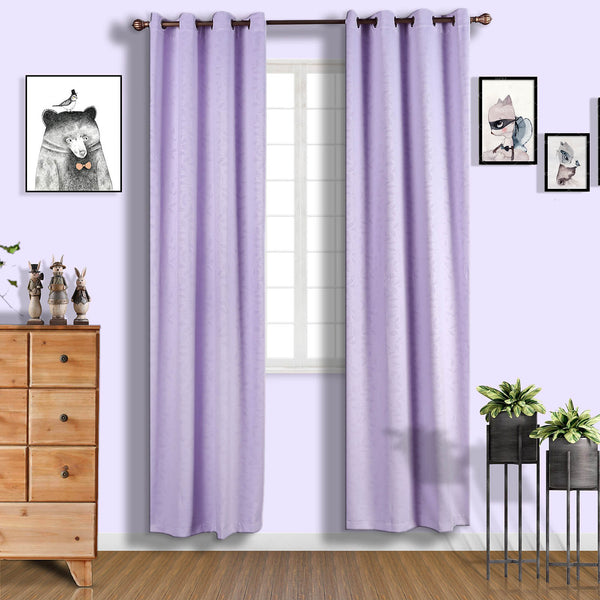 "Lavender Soundproof Curtains | Pack of 2 Embossed Curtains | 52""x108"" Blackout Curtains 