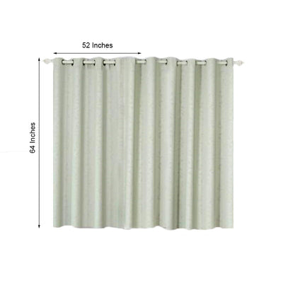 Silver Blackout Curtains | Pack of 2 Embossed Curtains | 52 x 64 Inch Length Curtains | Soundproof Velvet Curtains