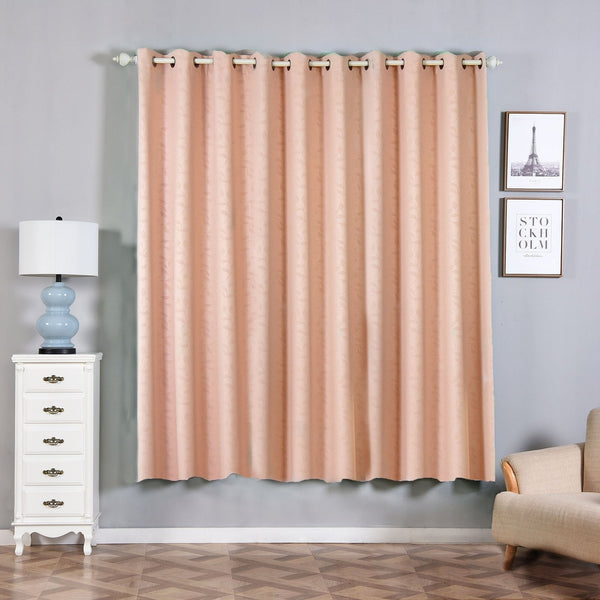 "Blush Blackout Curtains | Pack of 2 Embossed Curtains | 52""x84"" Grommet Curtains 