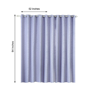 Lavender Blackout Curtains | Pack of 2 Embossed Curtains | 52 x 84 Inch Grommet Curtains | Curtain Sound Absorption
