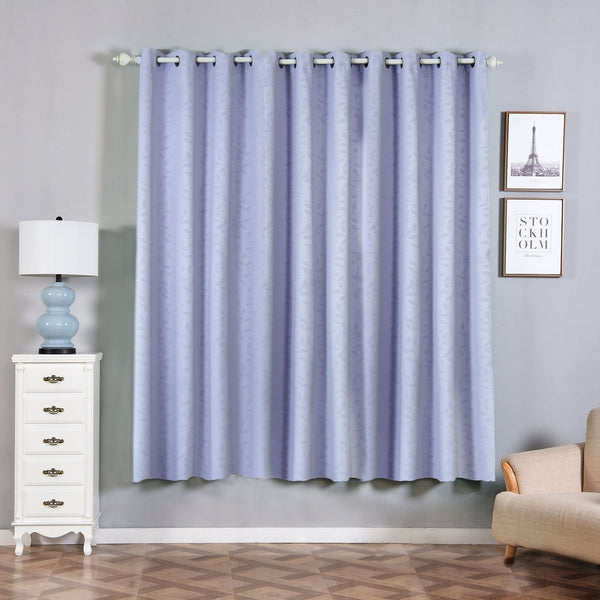 "Lavender Blackout Curtains | Pack of 2 Embossed Curtains | 52""x84"" Grommet Curtains 