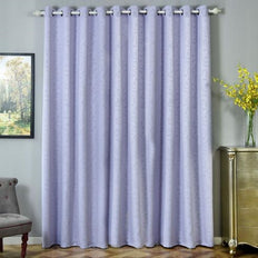 Lavender Blackout Curtains | Pack of 2 Embossed Curtains | 52 x 96 Inch Blackout Curtains | Thermal Grommet Curtains