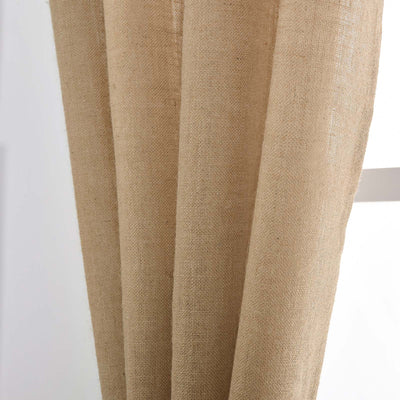 "Pack of 2 | 52""x108"" Eco Friendly Burlap Jute Rustic Home Curtain Backdrop Panels With Rod Pocket"