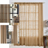 "Pack of 2 | 52""x84"" Eco Friendly Burlap Jute Rustic Home Curtain Backdrop Panels With Rod Pocket"