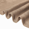52 inch x 108 inch Taupe Faux Linen Curtains, Semi Sheer Curtain Panels with Chrome Grommet