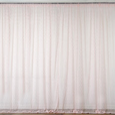 Set Of 2 Blush Fire Retardant Sheer Floral Lace Premium Curtain Panel Backdrops Window Treatment With Rod Pockets - 5FTx10FT