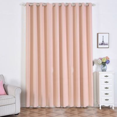 Blush Blackout Curtains | Pack of 2 | 52 x 108 Inch Blackout Curtains | Curtain Sound Absorption