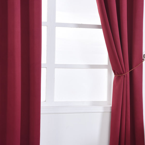 Burgundy Blackout Curtains 2 Packs 52 X 108 Inch