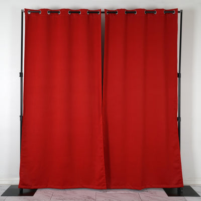 Red Blackout Curtains | Pack of 2 | 52 x 108 Inch Blackout Curtains | Room Darkener Curtains