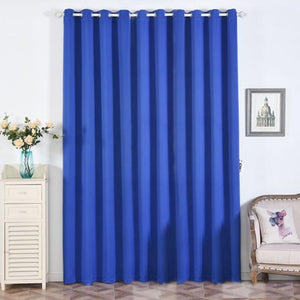 Royal Blue Blackout Curtains | Pack of 2 | 52 x 108 Inch Blackout Curtains | Noise Cancelling Curtains