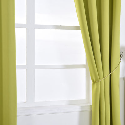 Sage Green Blackout Curtains | Pack of 2 | 52 x 108 Inch Grommet Curtains | Thermal Insulated Blackout Curtains