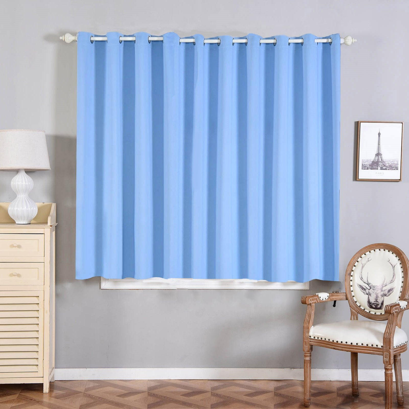 Baby Blue Blackout Curtains 2 Packs 52 X 64 Inch