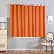 Coral Blackout Curtains | 2 Packs | 52 x 64 Inch Grommet Curtains | Noise Reducing Curtains
