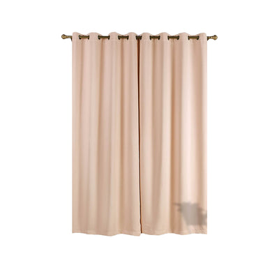 Blush Blackout Curtains | Pack of 2 | 52 x 96 Inch Blackout Curtains | Room Darkener Curtains