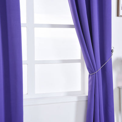 Purple Blackout Curtains | 2 Packs | 52 x 96 Inch Blackout Curtains | Room Darkener Curtains