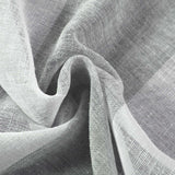 "2 Pack | 52""x 108"" Cabana Print Faux Linen Curtain Panels With Chrome Grommet - White / Silver"