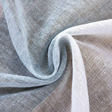 "2 Pack | 52""x 84"" Cabana Print Faux Linen Curtain Panels With Chrome Grommet - White / Blue"