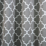 Trellis Curtain Panels | Pack of 2 | White & Charcoal Gray Blackout Curtains | 52 x 108 Inch Grommet Curtains | Noise Cancelling Curtains