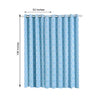 Trellis Curtain Panels | Pack of 2 | White & Baby Blue Blackout Curtains | 52 x 108 Inch Grommet Curtains | Insulated Grommet Curtains