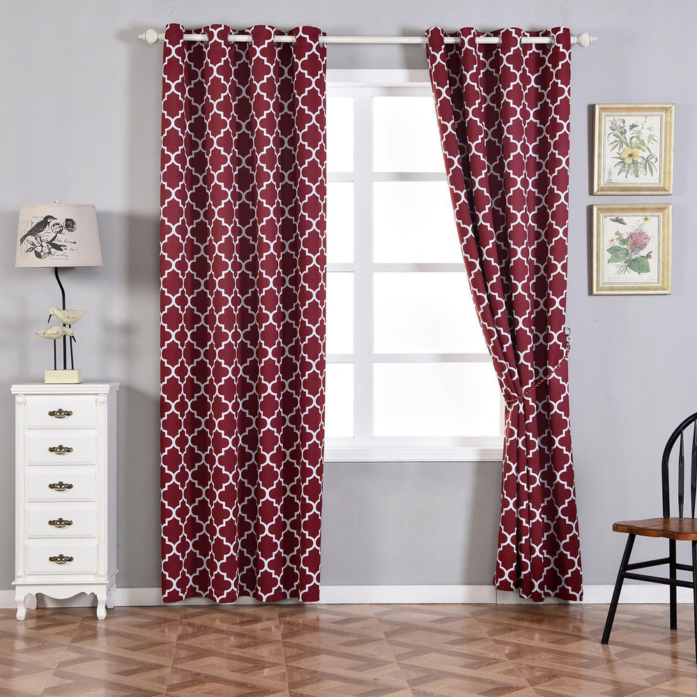 best dotted burgundy curtain solid w bronze hot deals grommet on of sheer top lace mix shop panels check curtains out set match wide and antique l home fashion tulle blackout x piece width these