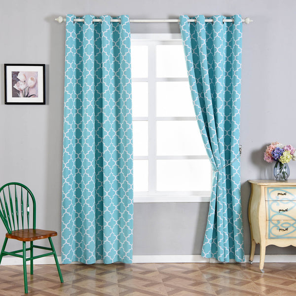 Lattice Print Curtains
