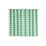 Chevron Blackout Curtains | Pack of 2 | White & Mint Chevron Curtains | 52 x 64 Inch Grommet Curtains | Designer Blackout Curtains