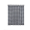 Chevron Blackout Curtains | Pack of 2 | White and Black Chevron Curtains | 52 x 84 Inch Grommet Curtains | Blackout Soundproof Curtains