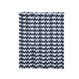Chevron Blackout Curtains | Pack of 2 | White & Navy Blue Chevron Curtains | 52 x 84 Inch Grommet Curtains | Thermal Insulated Blackout Curtains - Clearance SALE