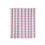 Chevron Blackout Curtains | Pack of 2 | White & Blush Blackout Curtains | 52 x 96 Inch Grommet Curtains | Soundproofing Curtains
