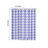 Chevron Blackout Curtains | Pack of 2 | White & Lavender Blackout Curtains | 52 x 96 Inch Grommet Curtains | Blackout Noise Reducing Curtains