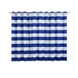 Cabana Stripe Curtains | Pack of 2 | White & Royal Blue Blackout Curtains | 52 x 64 Inch Grommet Curtains | Room Darkening Curtains With Grommets
