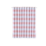 Cabana Stripe Curtains | Pack of 2 | White & Blush Blackout Curtain | 52 x 96 Inch Grommet Curtains | Curtain Sound Absorption - Clearance SALE