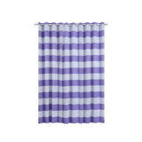 Cabana Stripe Curtains | Pack of 2 | White & Lavender Blackout Curtain | 52 x 96 Inch Grommet Curtains | Thermal blackout curtains