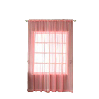 "Pack of 2 | 52""x108"" Rose Quartz Sheer Organza Curtains With Rod Pocket Window Treatment Panels"