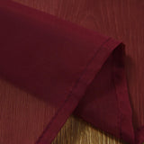 "Pack of 2 | 52""x108"" Burgundy Sheer Organza Curtains With Rod Pocket Window Treatment Panels"