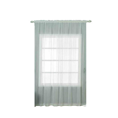 "Pack of 2 | 52""x108"" Ivory Sheer Organza Curtains With Rod Pocket Window Treatment Panels"