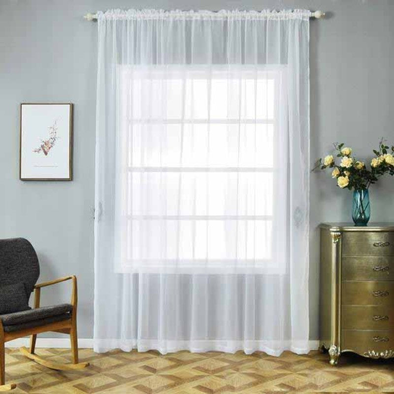 2 Pack 52 Quot X108 Quot White Sheer Organza Curtains With Rod