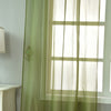 "2 Pack | 52""x84"" Moss Green Sheer Organza Curtains With Rod Pocket Window Treatment Panels"