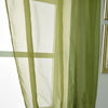 "Pack of 2 | 52""x84"" Sage Green Sheer Organza Curtains With Rod Pocket Window Treatment Panels"