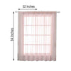 "Pack of 2 | 52""x84"" Sheer Organza Curtains With Rod Pocket Window Treatment Panels - Rose Gold 