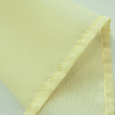 "Pack of 2 | 52""x84"" Yellow Sheer Organza Curtains With Rod Pocket Window Treatment Panels"