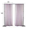 Pack of 2 | 5FTx10FT Amethyst Fire Retardant Sheer Organza Premium Curtain Panel Backdrops With Rod Pockets