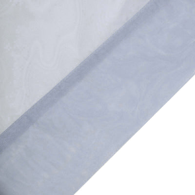Pack of 2 | 5FTx10FT Dusty Blue Fire Retardant Sheer Organza Premium Curtain Panel Backdrops With Rod Pockets