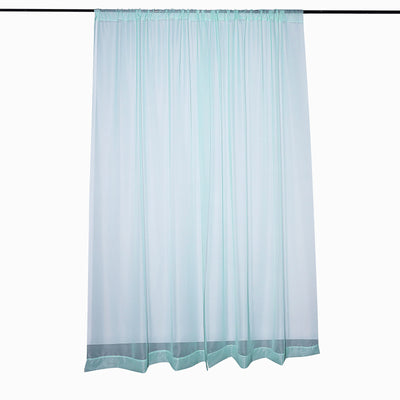 Pack of 2 | 5FTx10FT Dusty Sage Fire Retardant Sheer Organza Premium Curtain Panel Backdrops With Rod Pockets