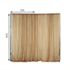 Pack of 2 | 5FTx10FT Gold Fire Retardant Sheer Organza Premium Curtain Panel Backdrops With Rod Pockets