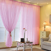 Pack of 2 | 5FTx10FT Pink Fire Retardant Sheer Organza Premium Curtain Panel Backdrops With Rod Pockets