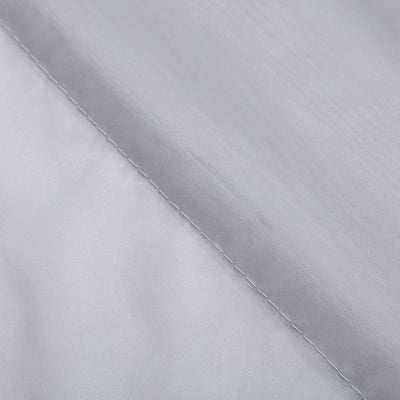 "40Ft Silver Ceiling Drapes Sheer Curtain Panels Fire Retardant Fabric With 4"" Pocket"