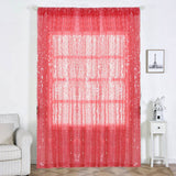 "Pack of 2 | 52""x108"" Coral Big Payette Sequin Curtains With Rod Pocket Window Treatment Panels"